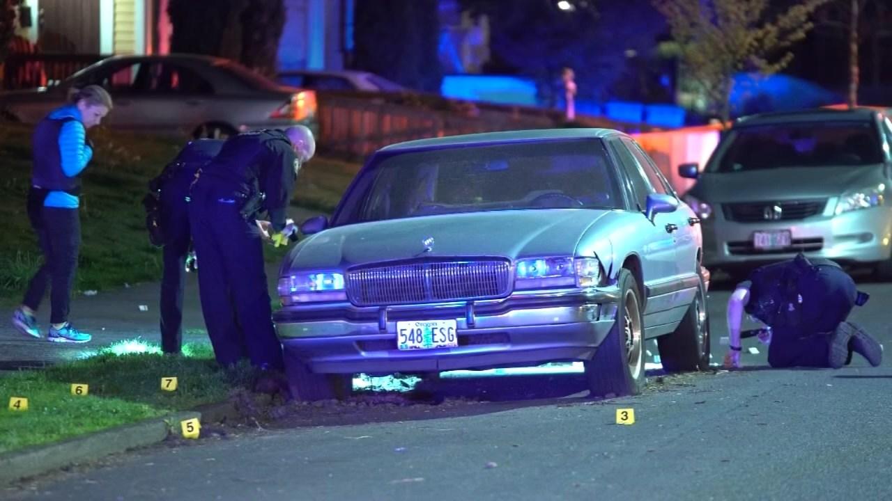 Shots fired scene in N. Portland on Sunday.