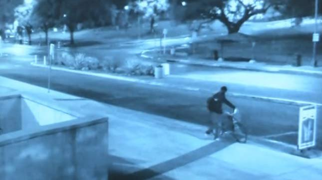 Surveillance image of murder suspect at University of Texas at Austin. (Austin Police Department)