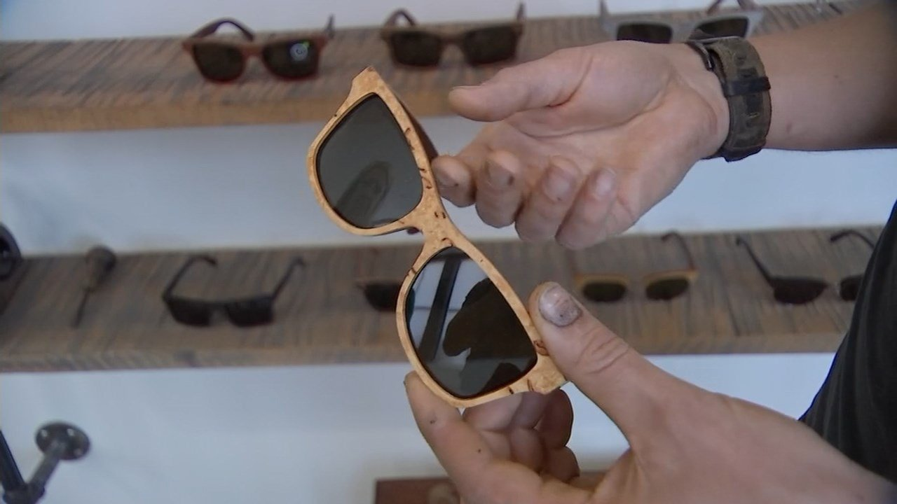 The designs from Shwood Sunglasses are named after streets in Portland, and are made with sustainable wood. (KPTV)