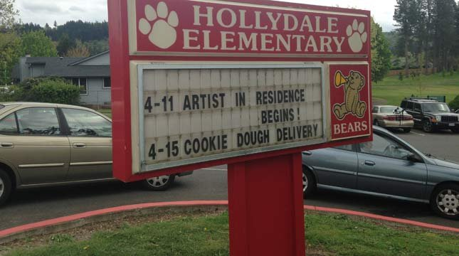 Hollydale Elementary School in Gresham. (Source: KPTV)