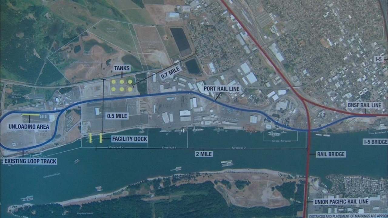 Location of the proposed oil transfer facility. (KPTV)