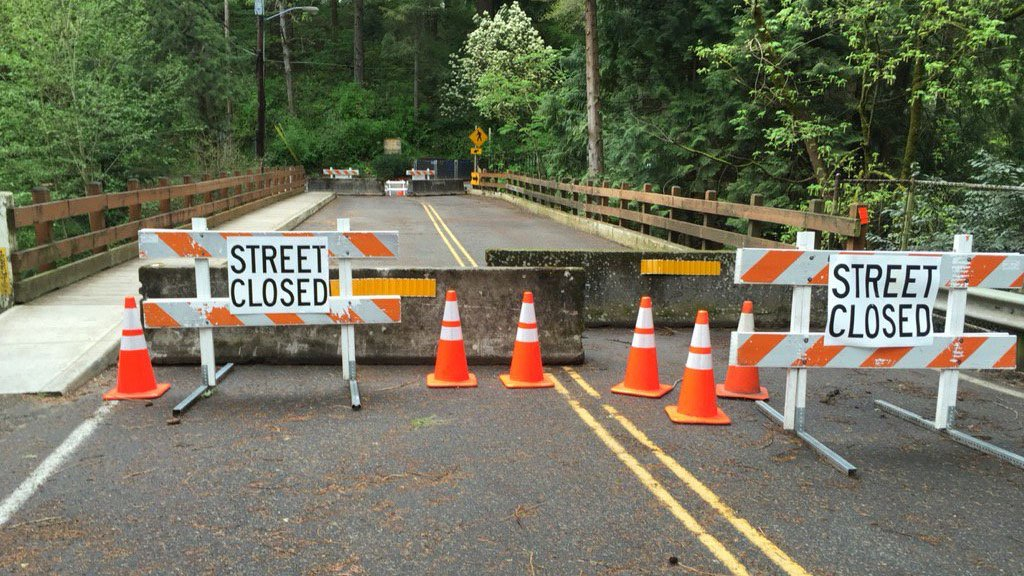 The SE 122nd Ave Bridge will remain closed to cars and trucks for three years under PBOT's repair plan. (Jamie Wilson/KPTV)