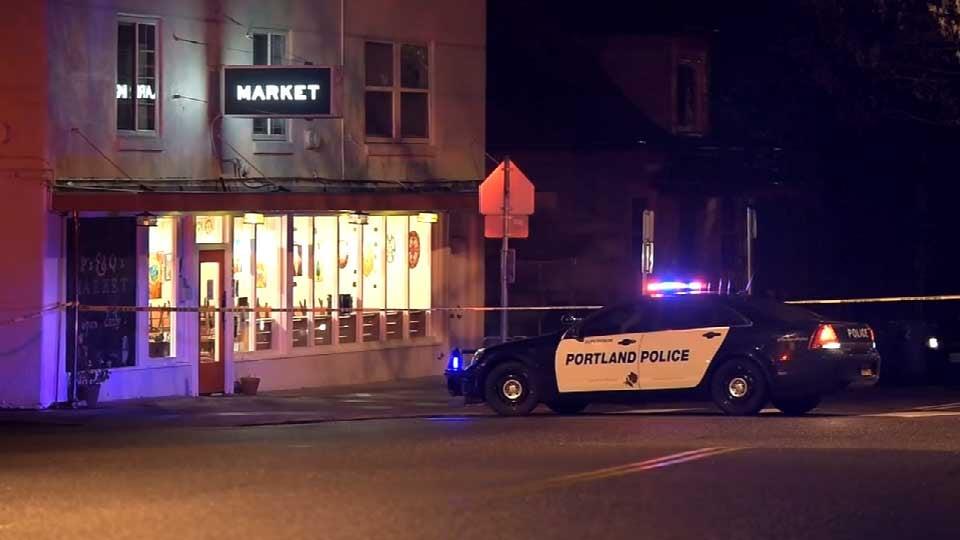 Deadly shooting scene near Northeast Dekum Street and Claremont Avenue in April 2015. (Source: KPTV)