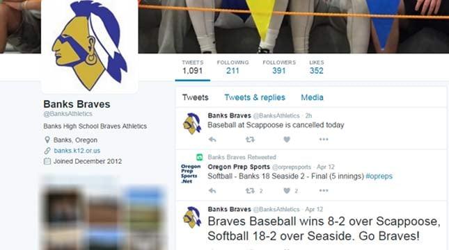 Banks Braves Twitter page (https://twitter.com/banksathletics)