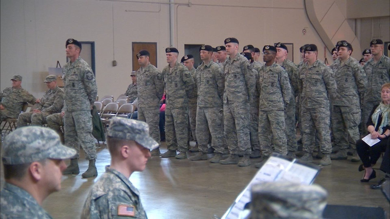 Guardsmen with the 142nd Fighter Wing Security Forces Squadron. (KPTV)