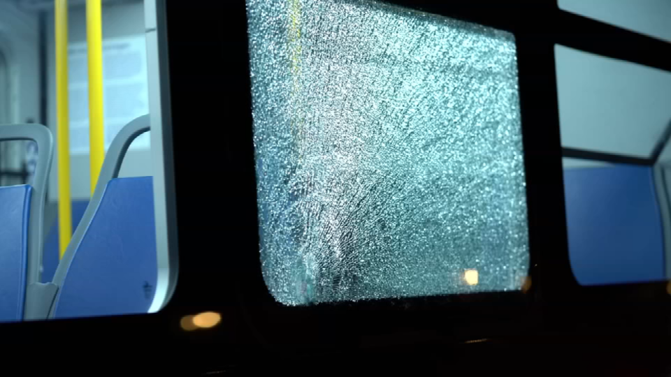 A bullet went through the window of a TriMet bus, almost hitting a teenage passenger (Photo: KPTV)