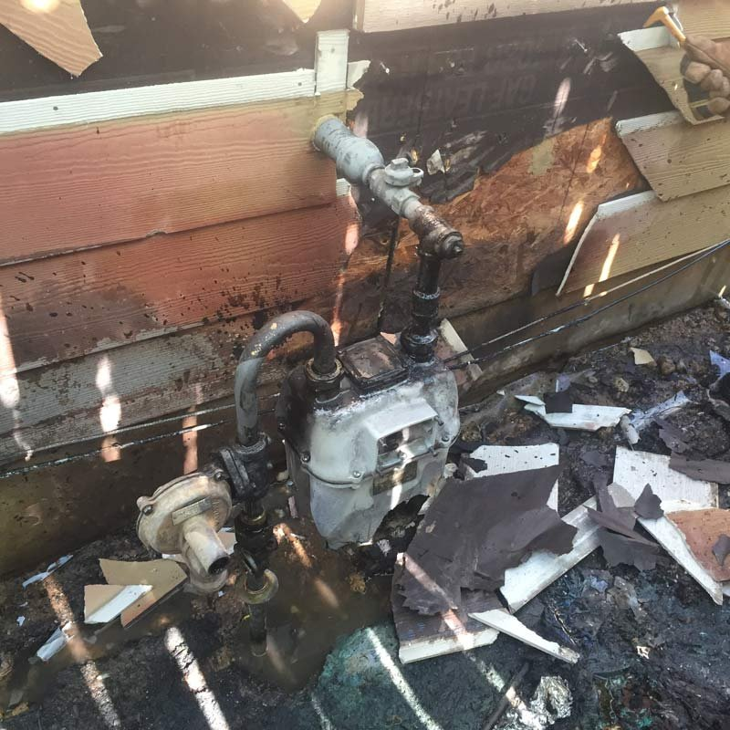 Fire damage in Happy Valley (Photo: Clackamas Fire District #1)