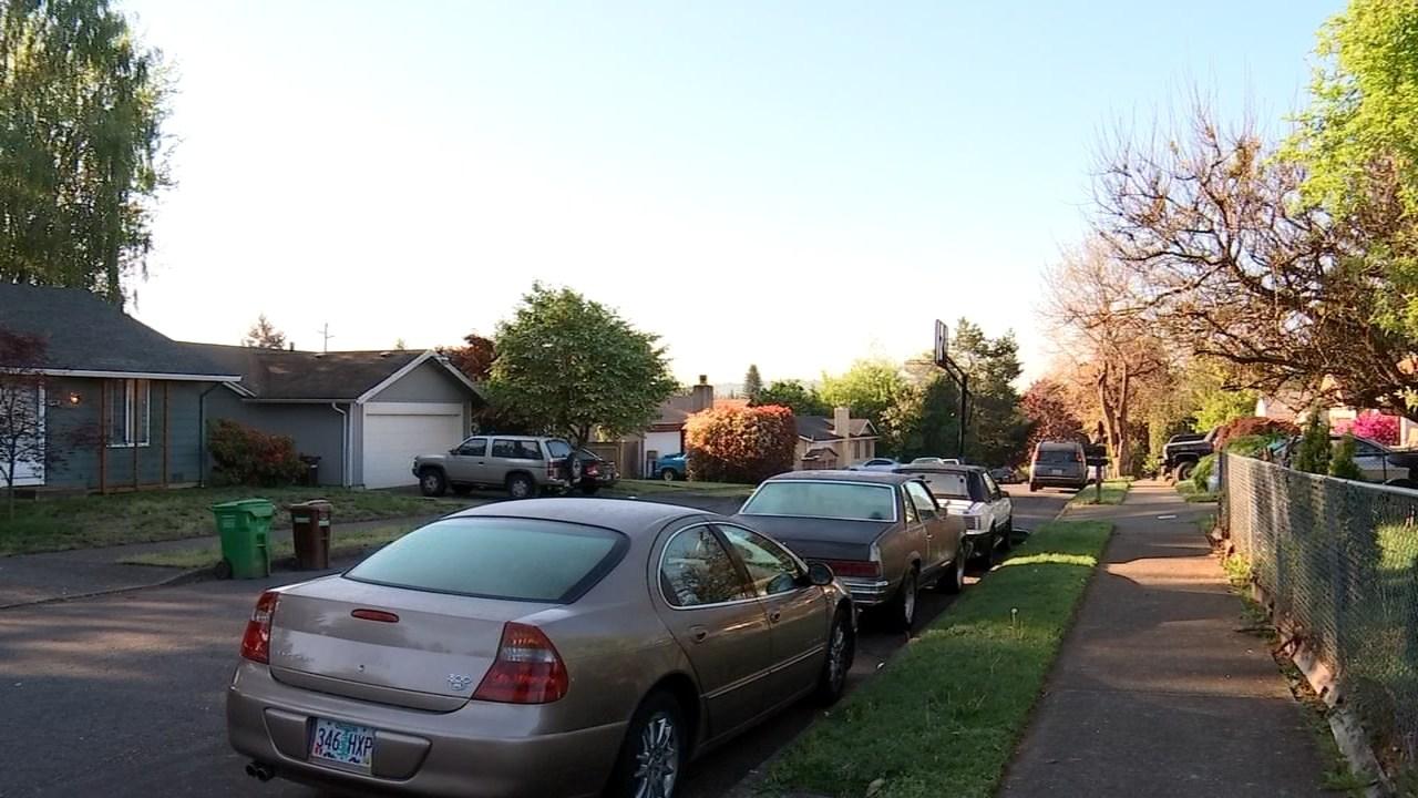 Gresham neighborhood where the cougar was spotted Tuesday night. (KPTV)