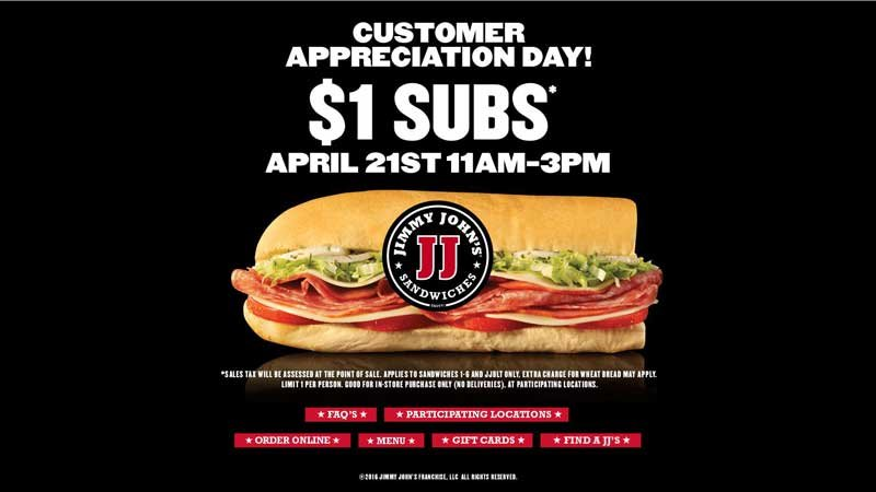 Screen grab from jimmyjohns.com