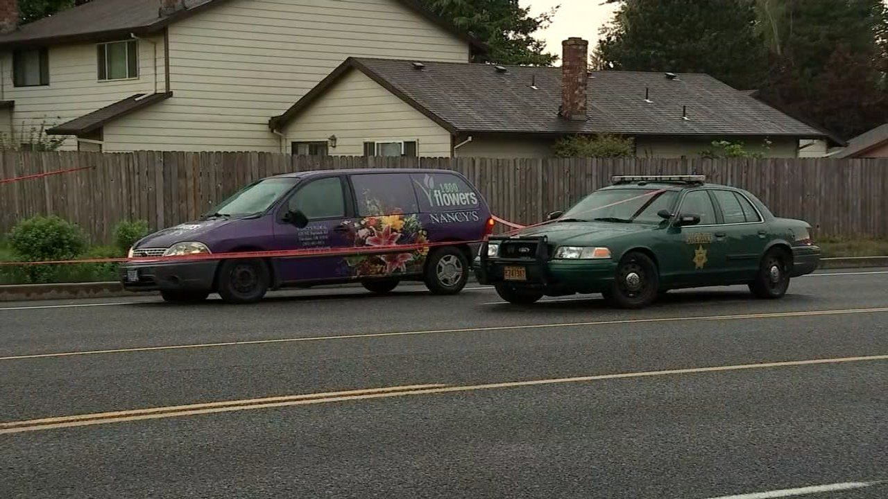 Two girls were hit by a flower delivery van in Gresham on Wednesday and one of the girls was critically injured, according to police. (Source: KPTV)
