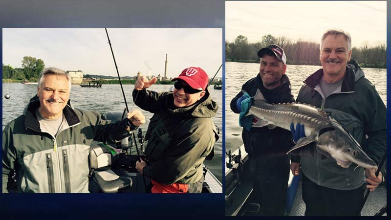 Fishing trip photos of Marc Messina before Thursday's deadly plane crash.