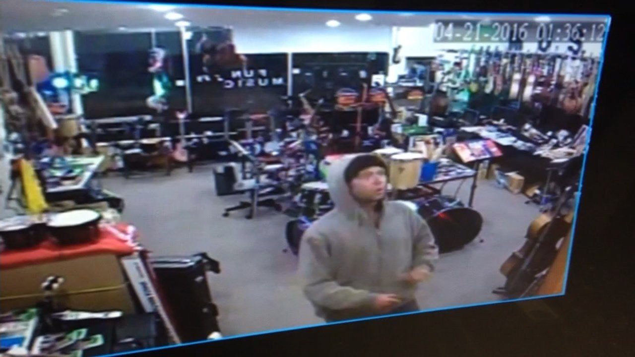 Video shot inside the Fun Instruments Music Store on Thursday morning. (KPTV)