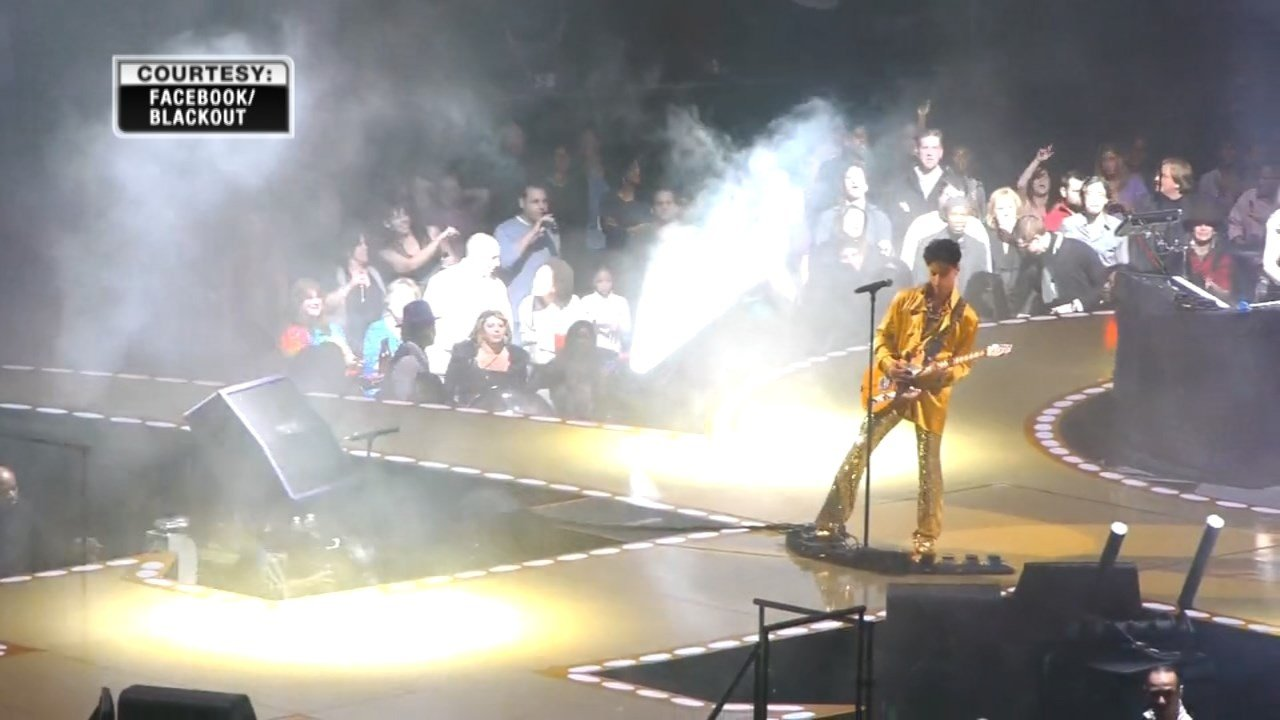 Prince performing at Madison Square Garden in 2011.