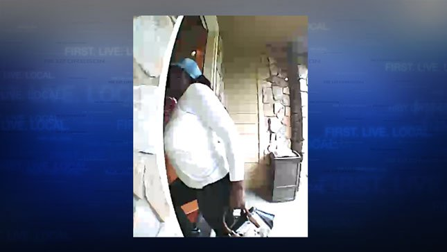 Video shows suspect entering the home (Courtesy: CCSO)