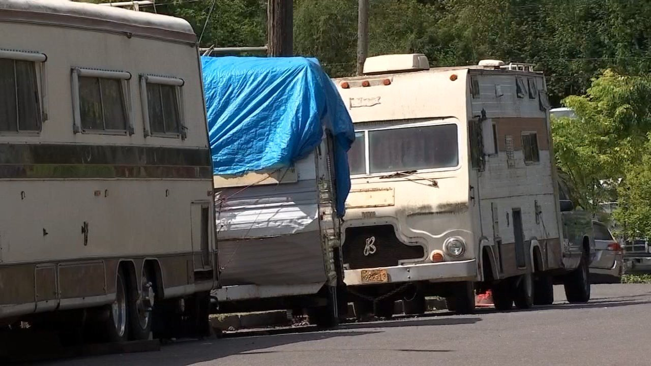 Concerned parents are asking the city why a group of run-down RVs seems to be allowed to camp next to a Portland elementary school. (KPTV)