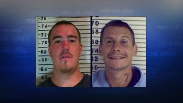 Justin Carnes, William McGinnis (Oregon Department of Corrections booking photos)