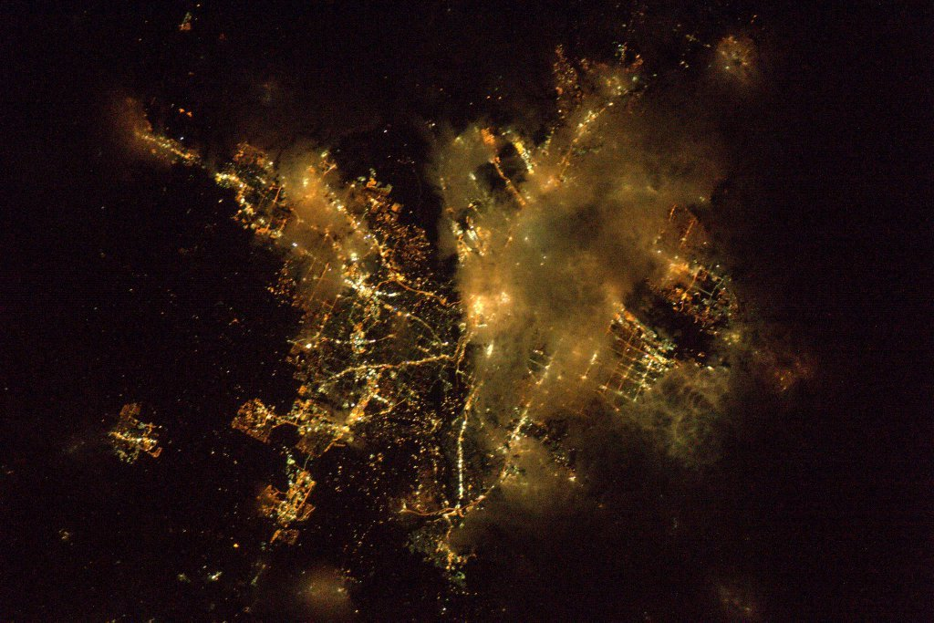 NASA Astronaut Jeff Williams shared a long range view of Portland Tuesday morning, tweeting out a his view from the International Space Station. (NASA)