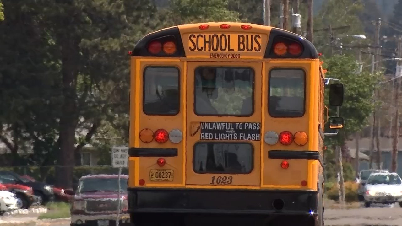 School bus in Stayton on Tuesday afternoon. (Source: KPTV)