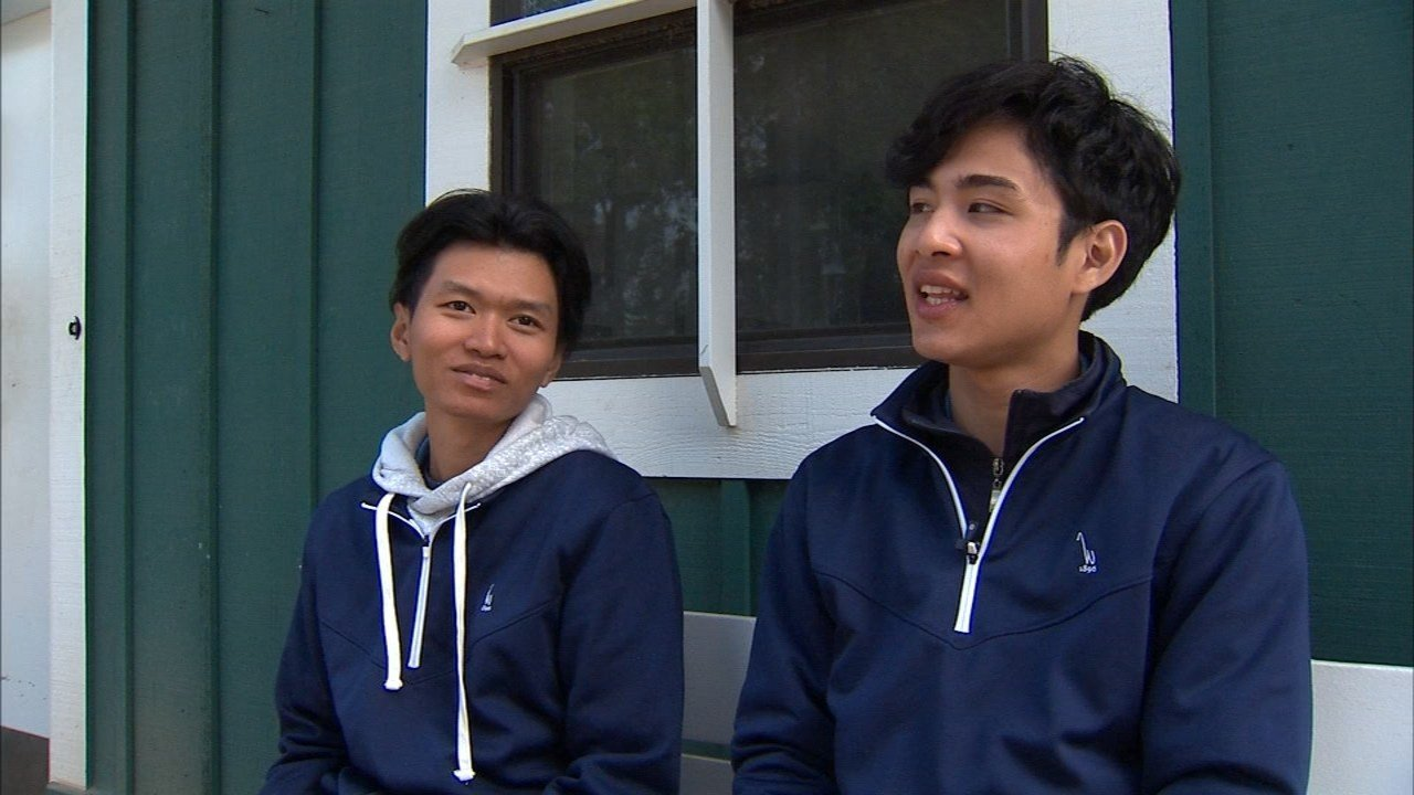 Foreign exchange students from Thailand, Dilokwiwatmong Kolgit (left) and Kaewkwan Poomkaew. (KPTV)