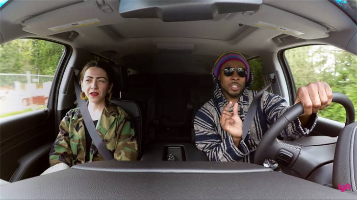 Seahawks cornerback Richard Sherman went undercover as a Lyft driver in Seattle in a new video released Wednesday. (Lyft/YouTube)