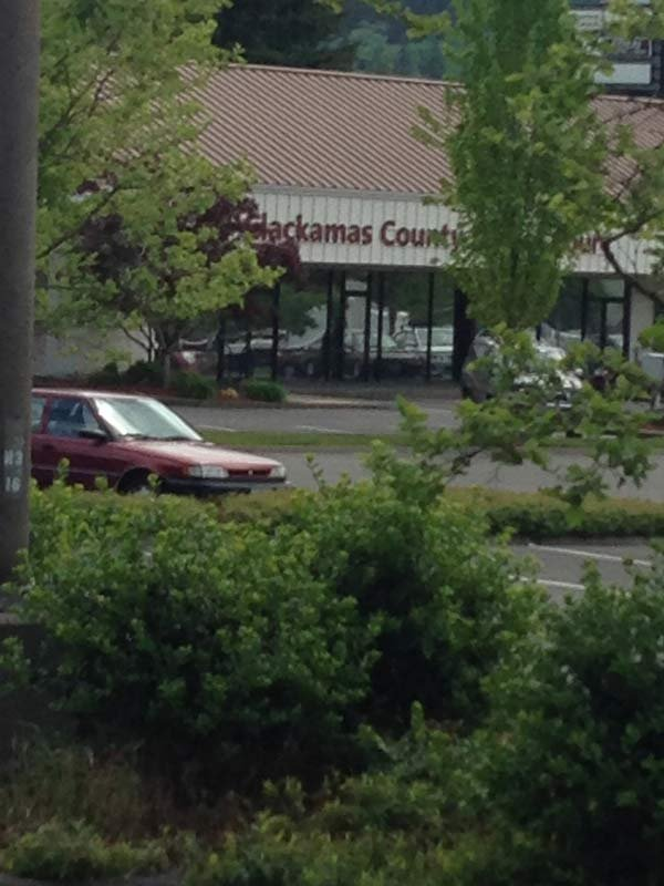 Area where Darryl Tasco was caught with a stolen safe near the Clackamas County Justice Court and Clackamas Town Center. (Photo: Clackamas Co. Sheriff's Office)