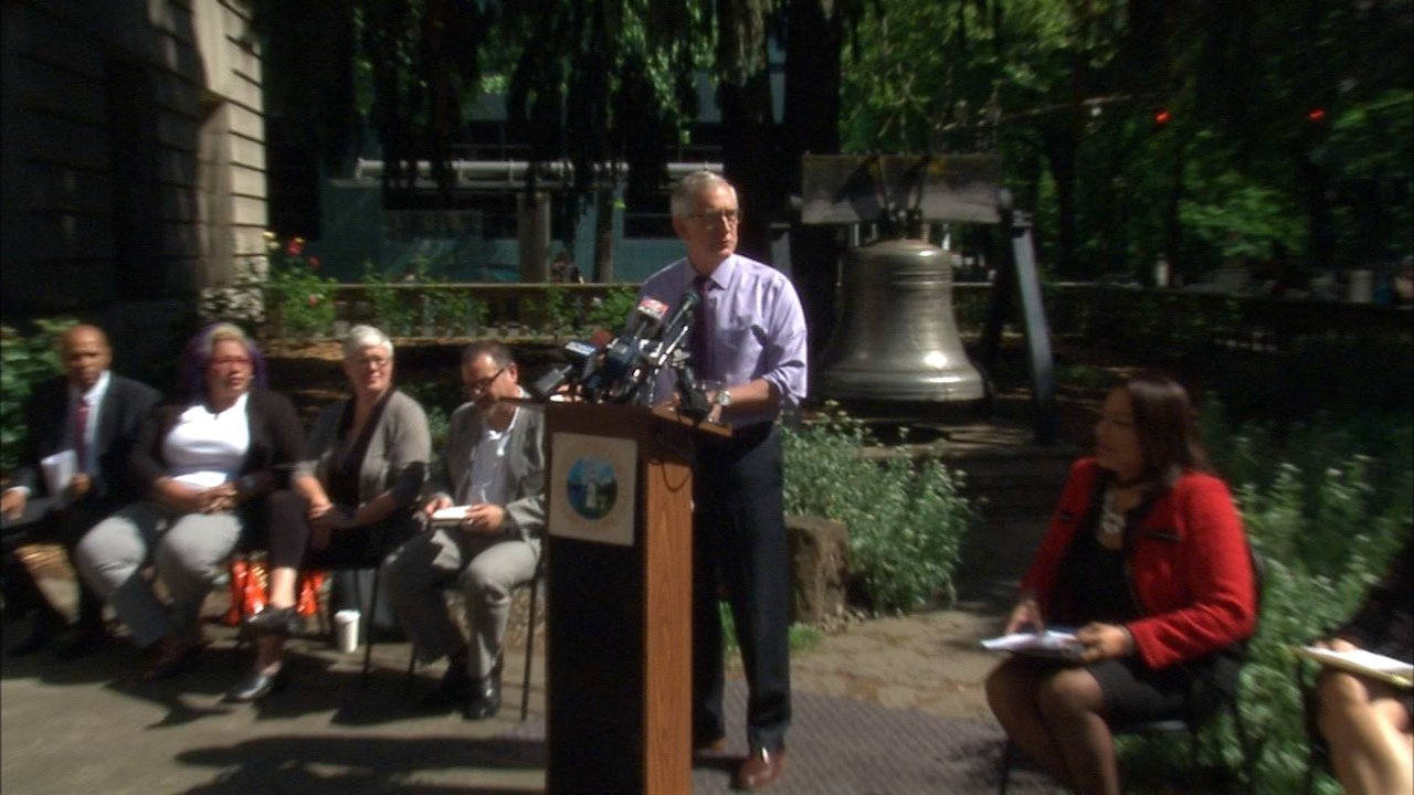 Mayor Hales roled out his new budget proposal for Portland Monday, looking to add $43M on new spending. (KPTV)