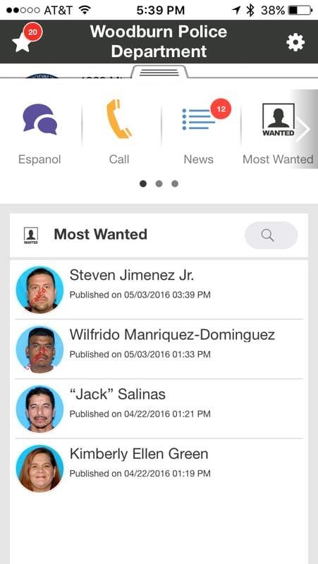 Woodburn Police Department app