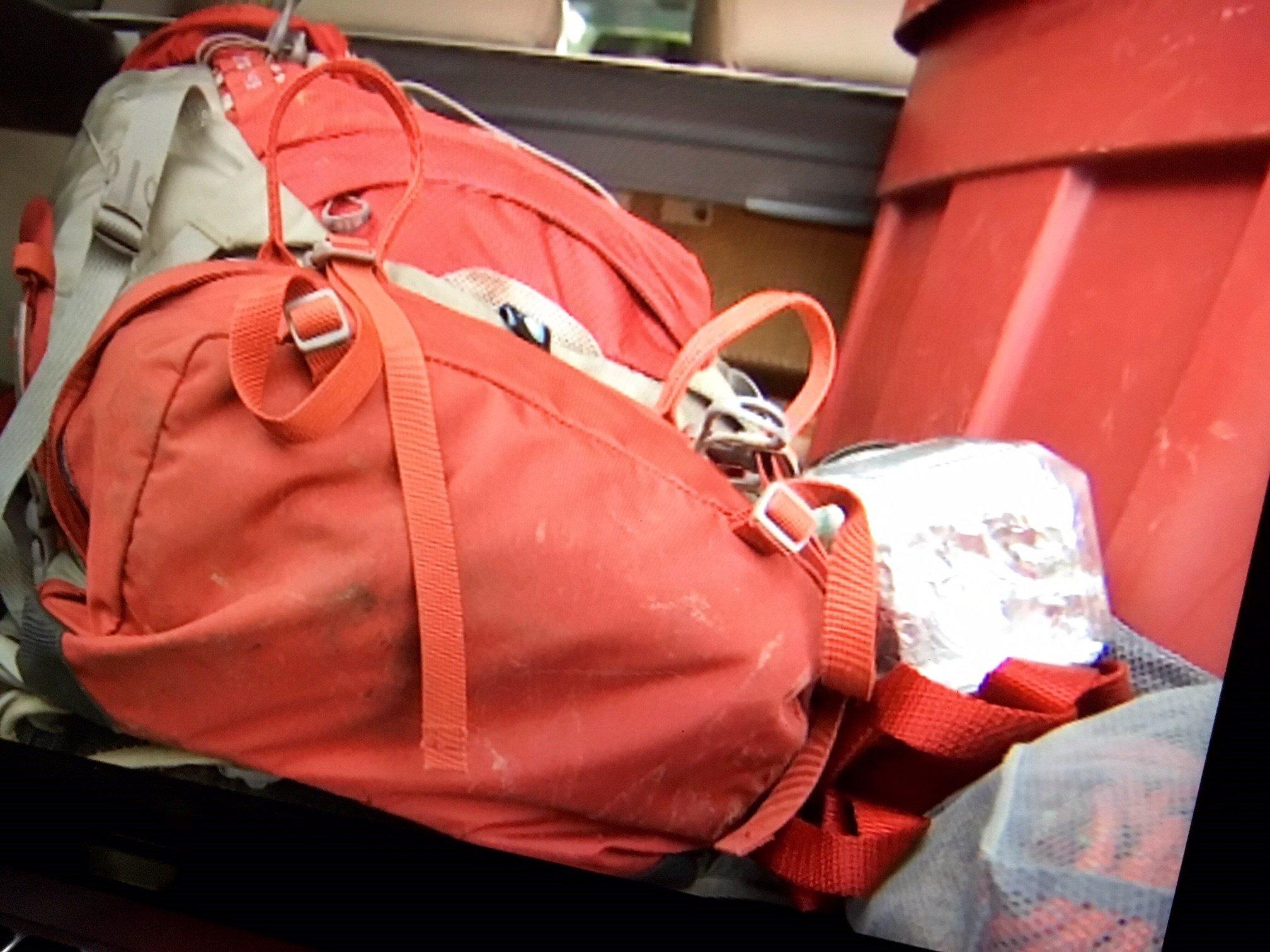 PNWSAR member Jerry King's backpack. (KPTV)