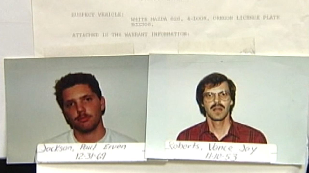 Paul Jackson and his brother Vance Roberts, police photos from 1990.