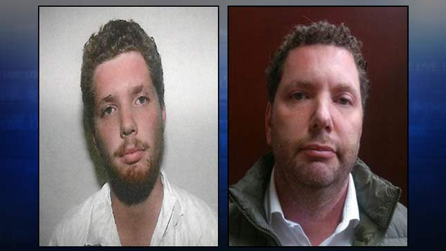 Paul Jackson 1990 jail booking photo on left, Paul Jackson arrested in Mexico on right (Photos: Hillsboro PD)