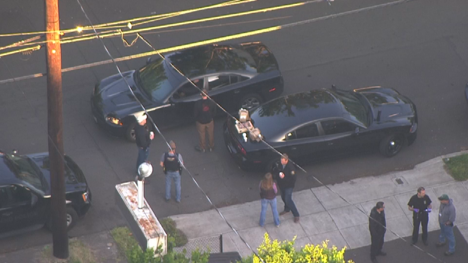 Air 12 over scene in NE Portland
