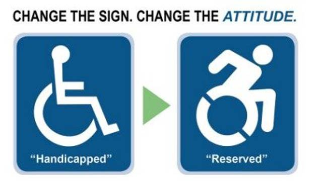 """Image from """"Change the handicapped parking signs in Oregon"""" petition at change.org."""