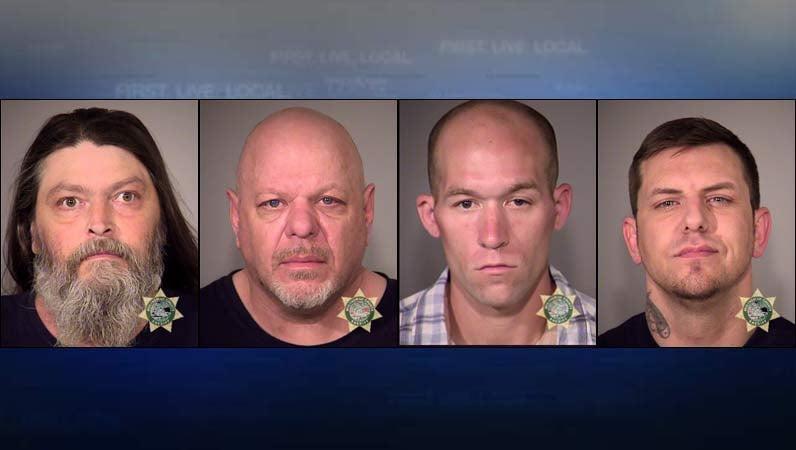 Jail booking photos: Earl Fisher, Mark Dencklau, Malachi Watkins, Tiler Pribbernow. Photo of Watkins is from a 2015 arrest.