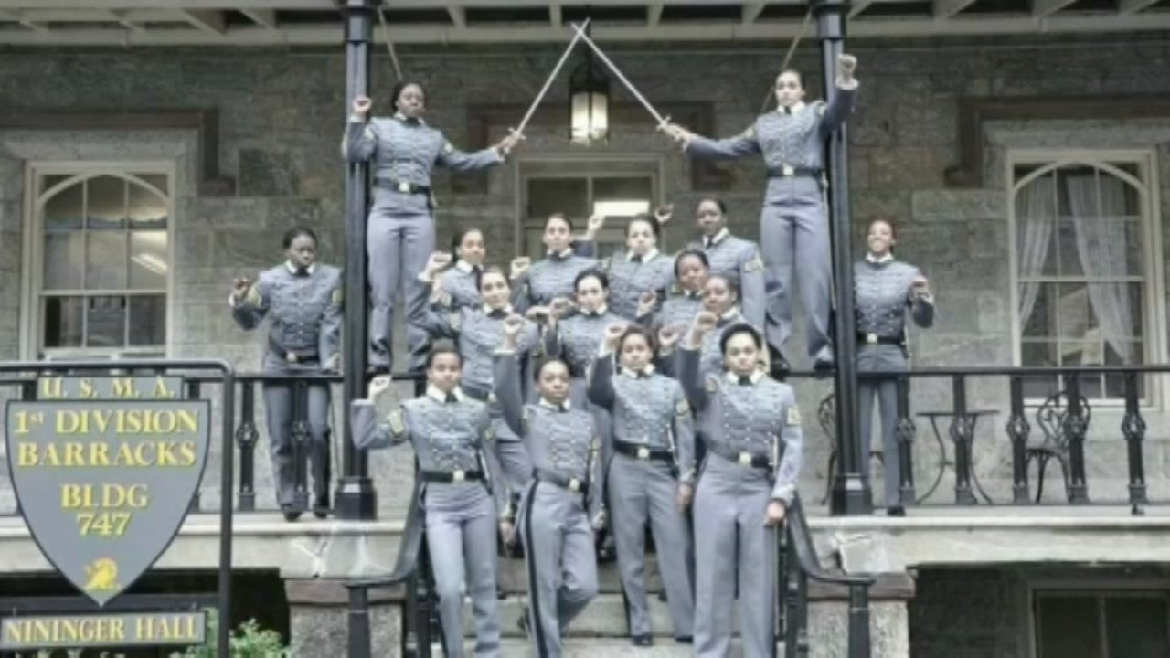 The United States Military Academy at West Point, N.Y. has launched an inquiry into an image shared on social media that shows 16 black, female cadets in uniform with their fists raised.