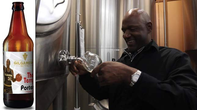 The Terry Porter ale and Blazers icon Terry Porter (Photos: Gilgamesh Brewing)