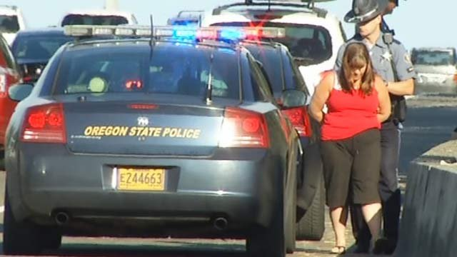 Trisha Homan was arrested on Highway 26 after a hit-and-run crash on Highway 6 in July 2014. (KPTV file image)