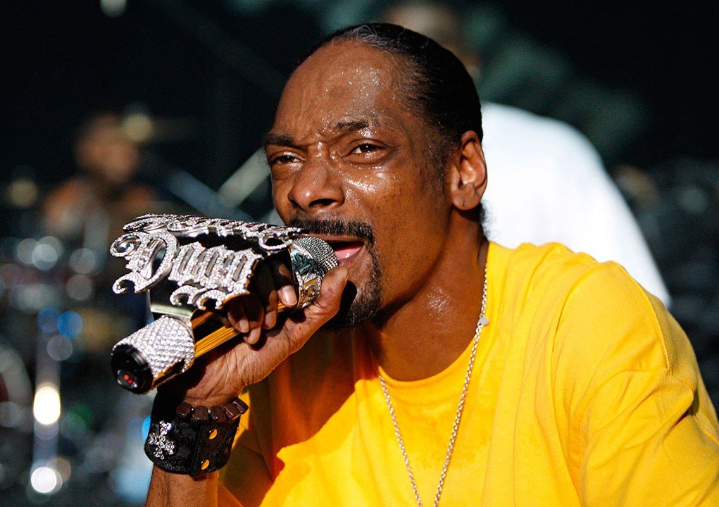 Snoop Dogg performs during a concert in 2009. (AP Photo/Bilal Hussein)