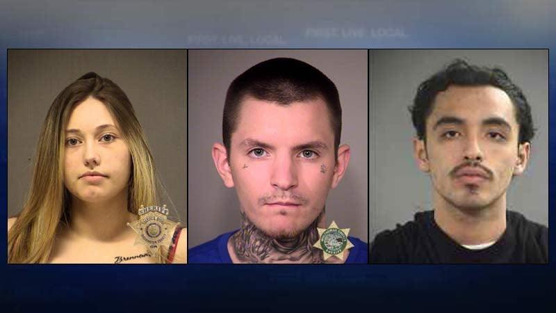 Mariah Molina, Brennan Surface, Charlz Warbonnet (jail booking photos)