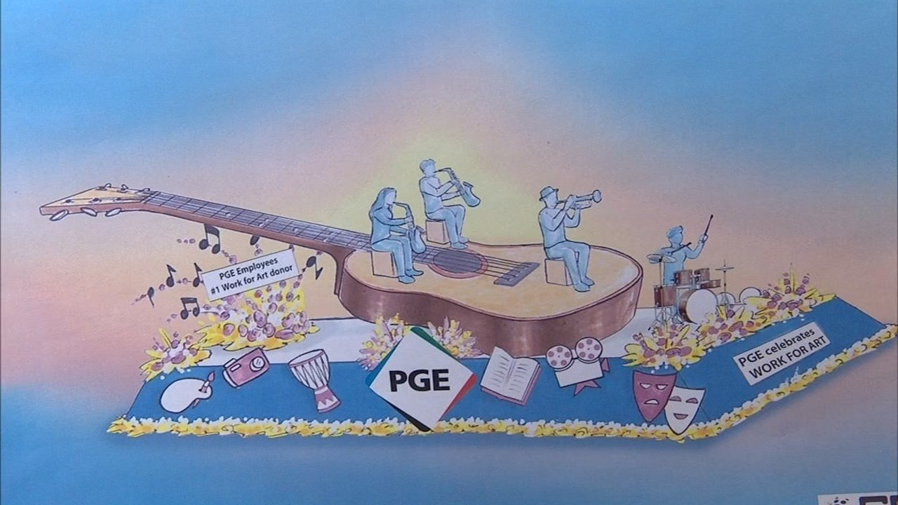 Rendering of this year's PGE Rose Festival float (KPTV)