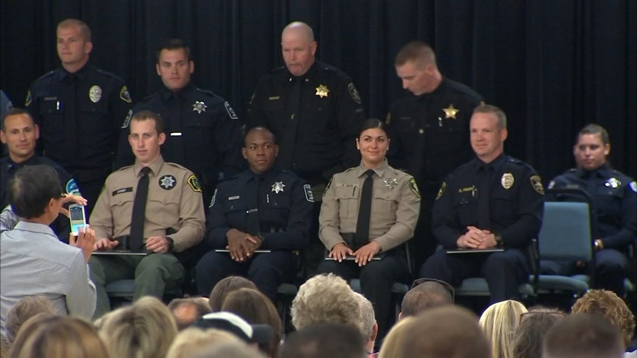 A record 10 women were part of the graduating class of the Oregon Public Safety Academy graduating class Friday. (KPTV)