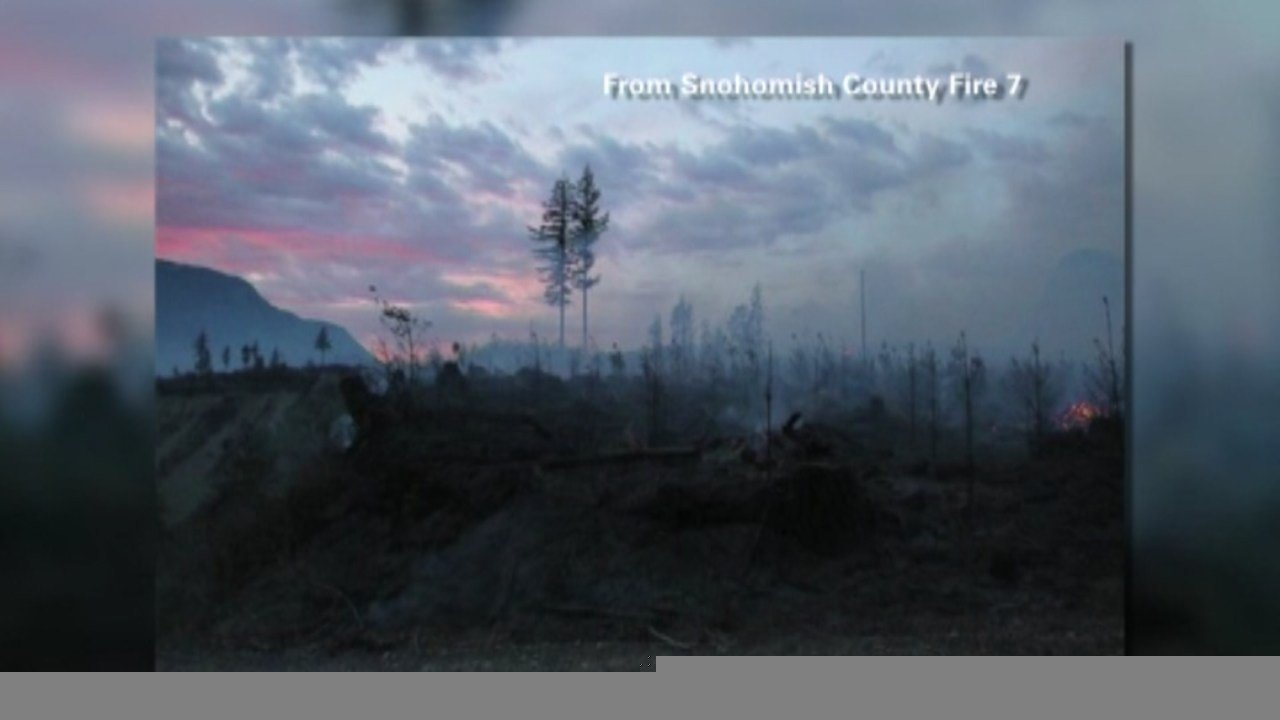 Fire crews are fighting a wildfire East of Gold Bar, Washington