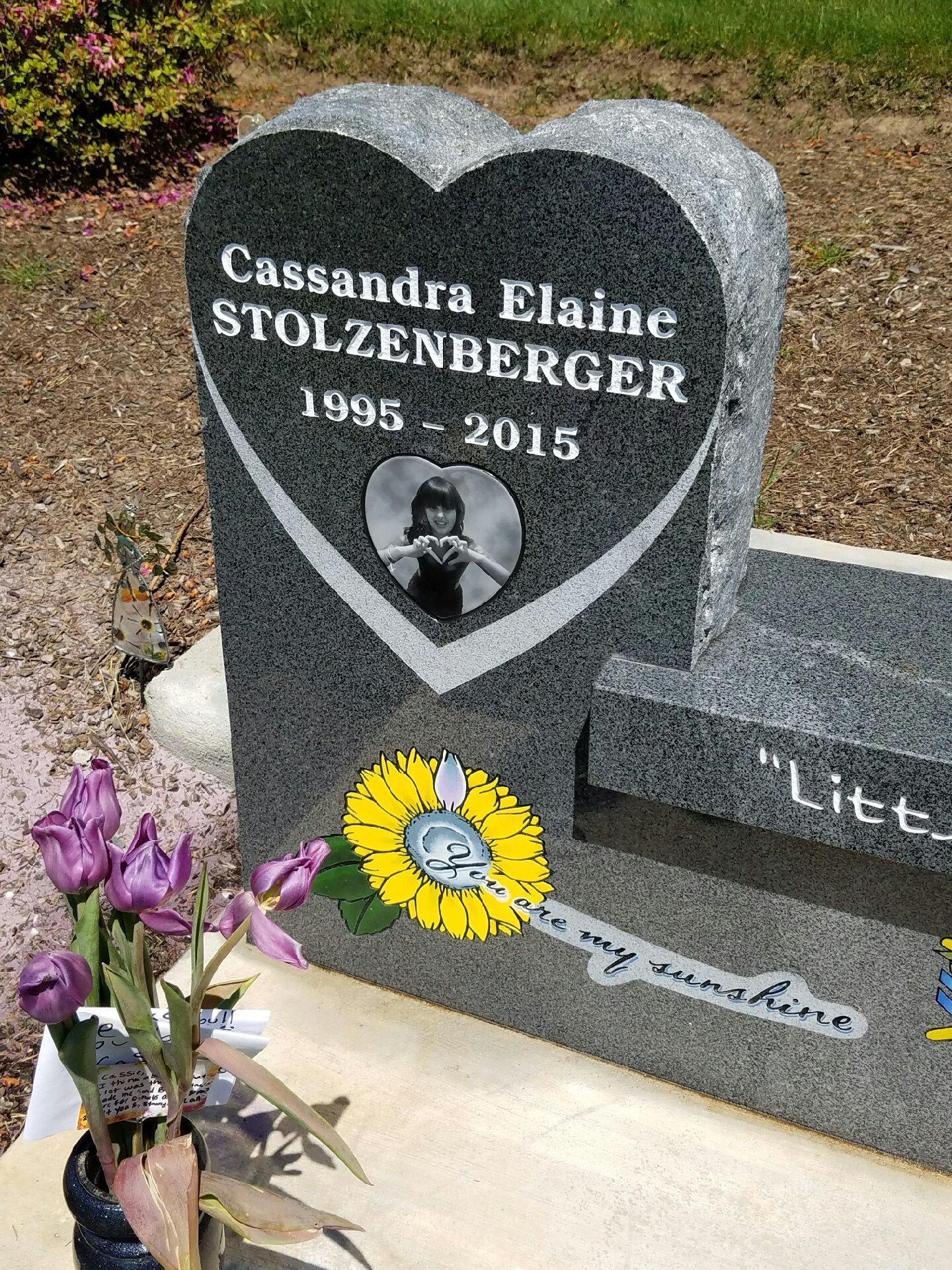 The family put Cassandra's 'tattoo'  on her gravestone
