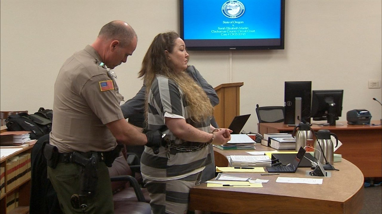 Sarah Martin during previous court appearance (KPTV)