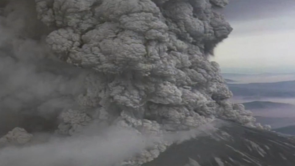 File Image of Mount St. Helens eruption in 1980