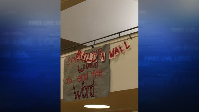 Banner at FGHS (Photo from Facebook/Juan Carlos Gonzalez)