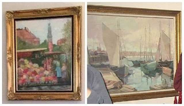 The two paintings were stolen during a residential burglary on Hayden Island in Mar. 2016 (Photo: Portland Police Bureau)