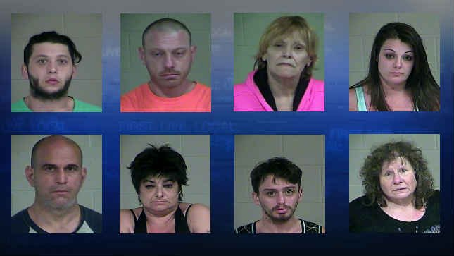 (Top row left to right) Bradley Balcuns, Christopher Richards, Linda Roman, Marie Darmour. (Bottom row left to right) Martin Cerezo, Melissa McKay, Rick Viles and Susan Broyles. (Courtesy: Scappoose Police Department)