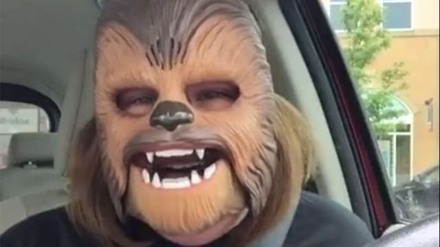 'Chewbacca Mom' carpools with J.J. Abrams and James Corden
