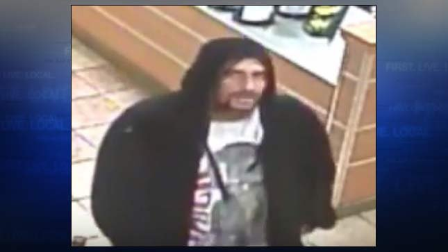 Surveillance image of downtown Portland Subway attempted robbery suspect. (Image: Portland Police Bureau/Crime Stoppers)