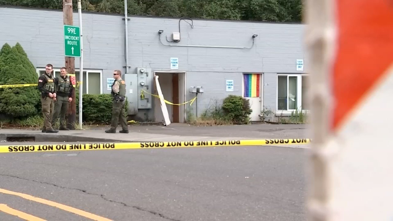 Scene of deadly officer-involved shooting in Oregon City in May. (Source: KPTV)